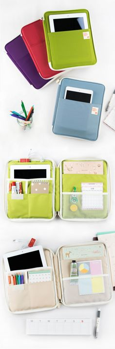 Study tip: Stay organized! What better way to keep all your school supplies together than with the Better Together iPad Pouch! It'll hold your devices, notebooks, homework, pens, earphones, sticky notes and so much more with its endless pockets and compartments. The whole pouch stays secure with a zipper closure and is water resistant! Being organized is the first step to success. Never lose another assignment or pencil again. Stay organized and stay on the road to success! So, check it out!