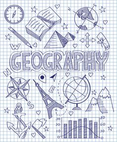 Photo about Vector illustration of Hand drawn Geography set. Illustration of direction, collection, diagram - 49512592