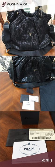Prada bag Good condition. Not sure if authentic. Item comes with dustbag. No odor. Came from smoke free amd pet free home. Prada Bags Totes