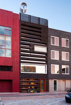Pieter Weijnen's (UPFRNT) House on IJburg in Amsterdam - completely C2C end energy neutral and wood built