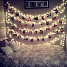 Find great deals for 20 LED Card Photo Clip Lights Battery Christmas Xmas o., Find great deals for 20 LED Card Photo Clip Lights Battery Christmas Xmas o. Decoration Bedroom, Hallway Decorating, Diy Home Decor, Decorating Bathrooms, Room Decor For Teen Girls, Teen Girl Bedrooms, Teen Rooms, Bed Ideas For Teen Girls, Girls Fun