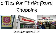 Save tons of money shopping at Thrift stores - You just need to know a few tips to get you going!