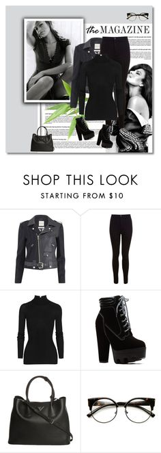 """""""eva mendes look"""" by acanadianhistory ❤ liked on Polyvore featuring Each X Other, Miss Selfridge, T By Alexander Wang, Prada and INDIE HAIR"""