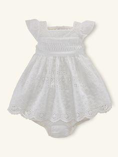 Ralph Lauren Eyelet Dress Beautiful dress for baby or toddler.
