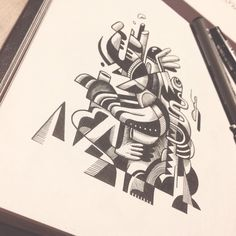 Drawing improvistion #brussels #illustration #blackandwhite #sketchbook #pleasure #creative #drawing #Belgium #__vebe__