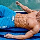 100 crunches for 4 weeks. Increase 100 each week (by the end you will be doing 400)