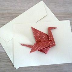 faire part de naissance en origami fille gar on carte double cigogne origami jaune en papier. Black Bedroom Furniture Sets. Home Design Ideas