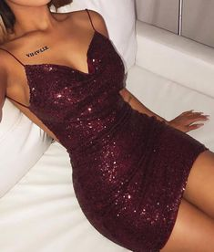 Sexy Backless Sequin Cocktail Dresses,V Neck Sheath Prom Party Dress Evening Wea. - Sexy Backless Sequin Cocktail Dresses,V Neck Sheath Prom Party Dress Evening Wear on Storenvy Source by - Pretty Dresses, Sexy Dresses, Beautiful Dresses, Formal Dresses, Clubbing Dresses, Short Tight Dresses, Elegant Dresses, Vegas Dresses, Summer Dresses