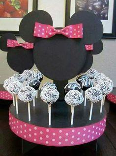 Popcakes decoradas al estilo Minnie