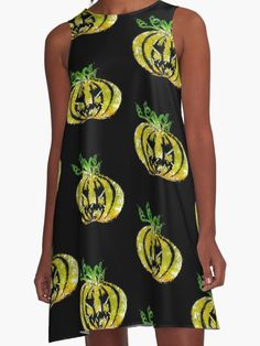 'Halloween Pumpkin' dress design. #halloween #spooky #festive #pumpkin #halloweenstyle #blackdress #horror #partydress