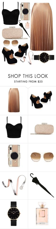 """""""New Skirt"""" by lauraleeanne ❤ liked on Polyvore featuring Miss Selfridge, Oscar de la Renta, Kate Spade, Chloé, CLUSE and Chanel"""