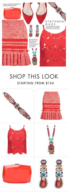 """""""statement piece"""" by settygallery ❤ liked on Polyvore featuring Ayala Bar, Alexander McQueen, Alice + Olivia, Monique Lhuillier and Whiteley"""