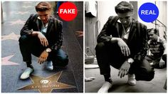 Elvis with his Star on the Walk of Fame? Elvis didn't get his walk of fame star until The image on the right is from a 1956 recording session in New York and has been colorized and photoshopped onto the walk of fame star photo. Keep It Real, Ol Days, Elvis Presley, Hipster, Photoshop, Stars, Levis, Movie Posters, Fictional Characters