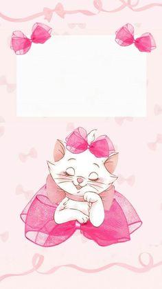 Cute Wallpapers Disney The Aristocats Ipod Wallpaper, Disney Phone Wallpaper, Kitty Wallpaper, Mobile Wallpaper, Wallpaper Quotes, Screen Wallpaper, Disney Cats, Disney Cartoons, Marie Cat