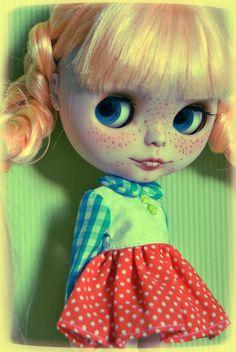 Reserverd Custom 37 blythe doll OOAK Pippi by BlytheinWonderland