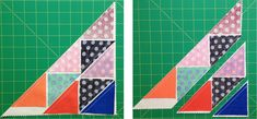 Auditioning a Quilt Block With HSTs