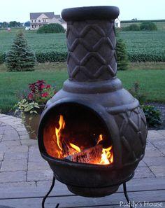Spring Dreams - chimnea on patio