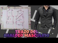 TRAZO (MOLDE) DE CHALECO PASO A PASO/ BERTHA BURITICA/ CLASE # - YouTube Blazer, Jackets, Create, Fashion, Modeling, Moda Masculina, Men, Men's, Outfits