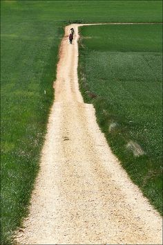 El Camino de Santiago del Campostano.  The Way of St. James, an ancient pilgrimage route in Spain.