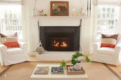 Hi Deb, I have a fireplace in the living room with windows on either side. Do you think the best set up is with the sofa across from the fireplace and two chairs on either end of the room? Any ideas on decorating around a fireplace? Or the mantel? Thanks, A.T.