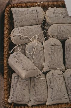 lavender sachets! I used dried lavender for the send off instead of rice. It smelled amazing!