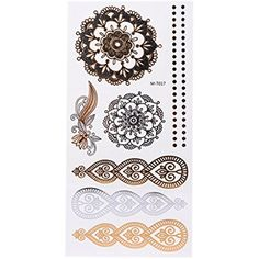 GaoCold Women Girl Flash Waterproof Temporary Tattoo Stickers Flower Body Art Decal Kits ** To view further for this item, visit the image link. (This is an affiliate link) #TemporaryTattoos