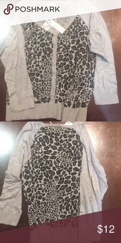 Leopard button up cardigan Brand new w tags Worthington Sweaters Cardigans
