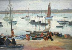 Pierre WAGNER « Paysage de Bretagne » Huile sur panneau, signée en bas (c'est le Rosmeur)