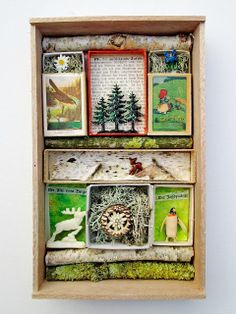 mano's world: art crate nr 44 Matchbox Crafts, Matchbox Art, Altered Boxes, Altered Art, Street Art Graffiti, Mixed Media Boxes, Origami, Found Object Art, Paper Crafts