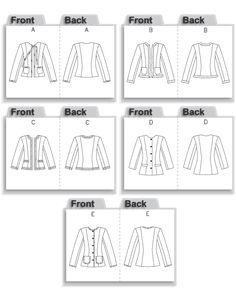 Vogue Patterns MISSES' PETITE JACKET sewing pattern