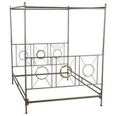 View this item and discover similar for sale at - Neoclassical Campaign Style Canopy Bed, Constructed of Iron with brass mounts, Queen size. Antique Furniture, Modern Furniture, Modern Beds, Fashion Art, Vintage Fashion, Brass Bed, Neoclassical, Wardrobe Rack, Canopy