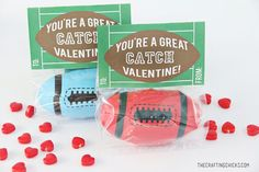 Football Valentine Printable via @craftingchicks