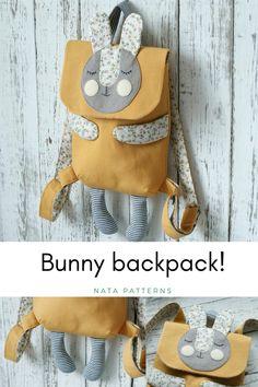 Kids Backpack Toddler Aminal Backpack Childerns Bag Bunny backpack Rabbit Backpack Cute bag kids Bunny Bag Small Backpack purse Kids dift / Детский рюкзак, рюкзак для детей, рюкзак-заяц.