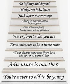 Stair Decals Disney Quotes Stairway Decals 13 Steps Quote Vinyl Stickers lettering Family Decor Staircase Decal Stair -- Visit the image link more details. (This is an affiliate link)