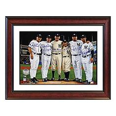 yankees final game autographed photo
