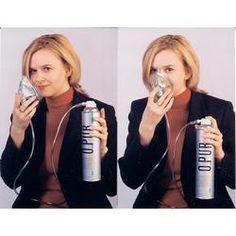 botella de oxígeno inhalador opur con la máscara