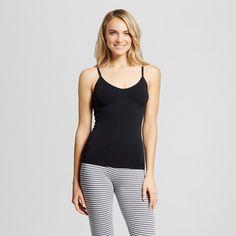 Women's Pajama Seamless Camisole Ebony Xxl, Black