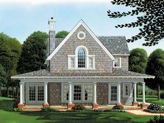 Narrow Lot House Plan, 054H-0049