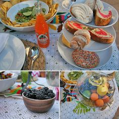 Splash in some color with a cake stand and bright mexican pastries! – How to Throw a Cinco de Mayo Garden Party