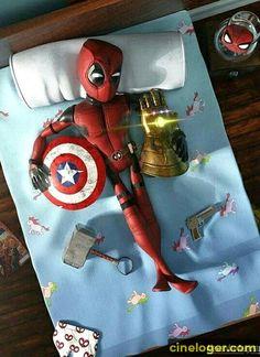Deadpool loves his life Deadpool Pikachu, Deadpool Art, Deadpool Funny, Marvel Dc Comics, Marvel Heroes, Marvel Avengers, Spiderman Marvel, Deadpool Wallpaper, Avengers Wallpaper