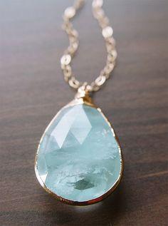 "friedasophiejewelry: "" My last aquamarine necklace in store by friedasophie.etsy.com """