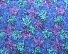 Blue Purple Teal Leaf Leaves Quilter's by SuchPrettySupplies