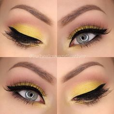 I love the idea of yellow eyeshadow incorporated into subtle, everyday looks like this.