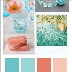 Teal and Coral- adding coral to my living room!
