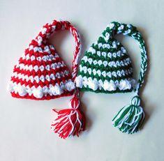 Niño o bebé niña Navidad Crochet Elf Hat y fotografía apoye todos los  tamaños de que 751d2a0db3e