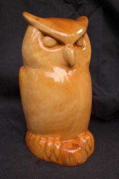 Art Wood Hand Carved Owl by BoughWoW on Etsy
