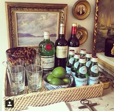 Love this chic bar display from Habitually Chic.