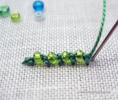 Stitch Play: Beaded Palestrina Stitch – Needle'nThread.com