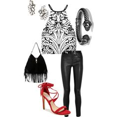 Pop of color by alexsandragalindo on Polyvore featuring polyvore, fashion, style, Alice McCall, Helmut Lang, Steve Madden, David Yurman and BaubleBar
