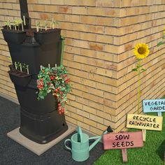School Starter Kit: 2 Tier Rainwater Terrace Water Butt With Planters (134 Litre) - Rainwater Terrace®